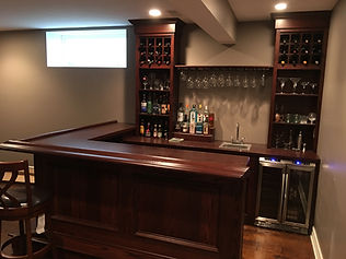 Custom built home pub