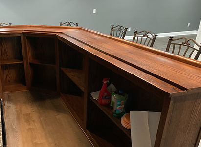 Home bar top with drink return