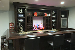 2 level home bar with granite