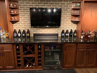 Custom built wine display and storage