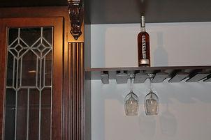 Home pub with custom stemware holders