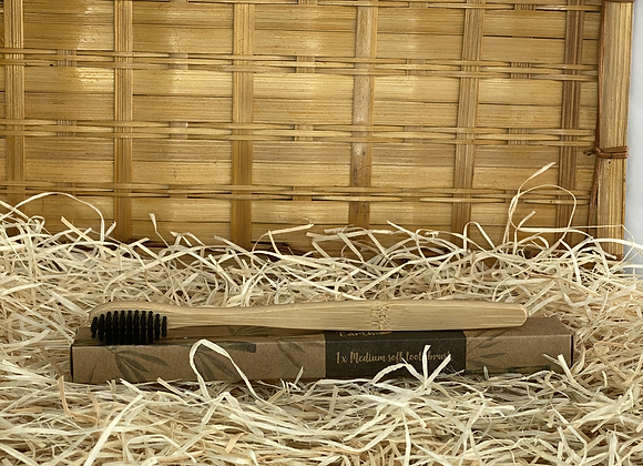 Brosse à dents souple en Bambou et poils de charbon