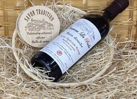 Coffret  Vin rouge et camembert