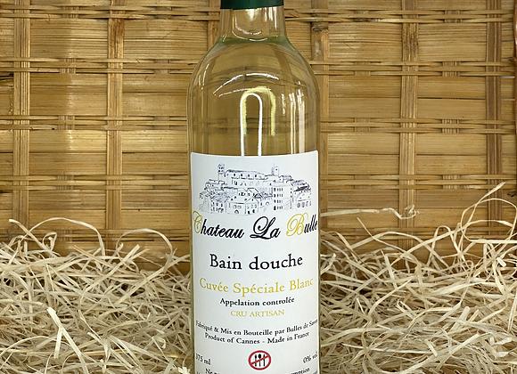 Bain douche bouteille de vin blanc