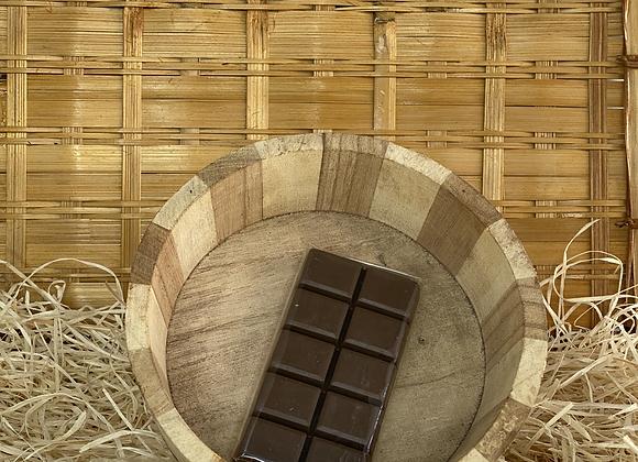 Savon tablette de chocolat noir