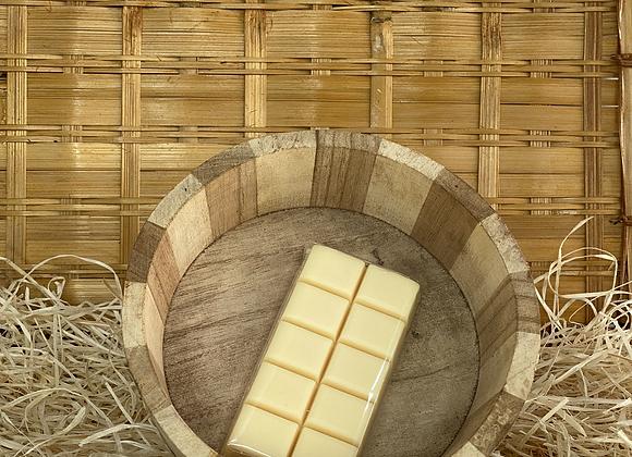 Savon tablette de chocolat blanc