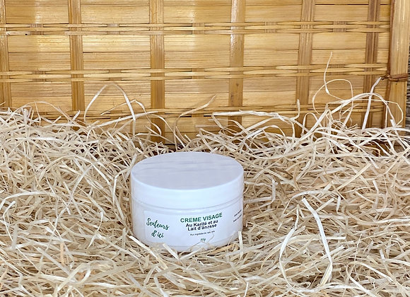 Crème visage au beurre de karité et au lait d'ânesse