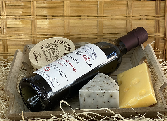 Coffret vin rouge et fromages