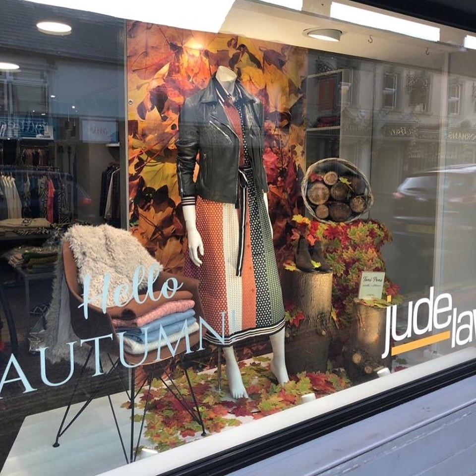 JLB Autumn window display