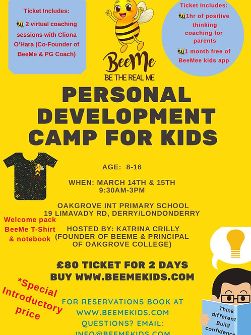 Personal Development Camp Ticket 14th-15th March 2020