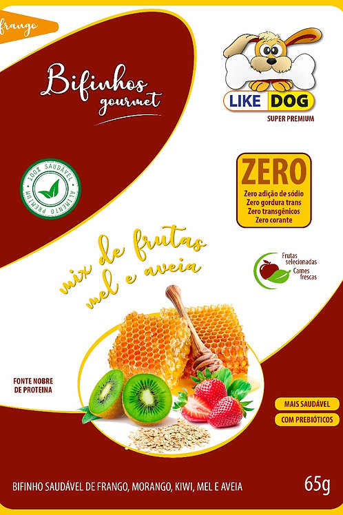 Suplemento em Bifinho Like Dog mix frutas mel e aveia 65 g