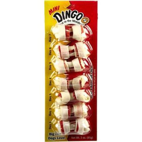 Osso Dingo para Cães Original Mini com 7 unidades