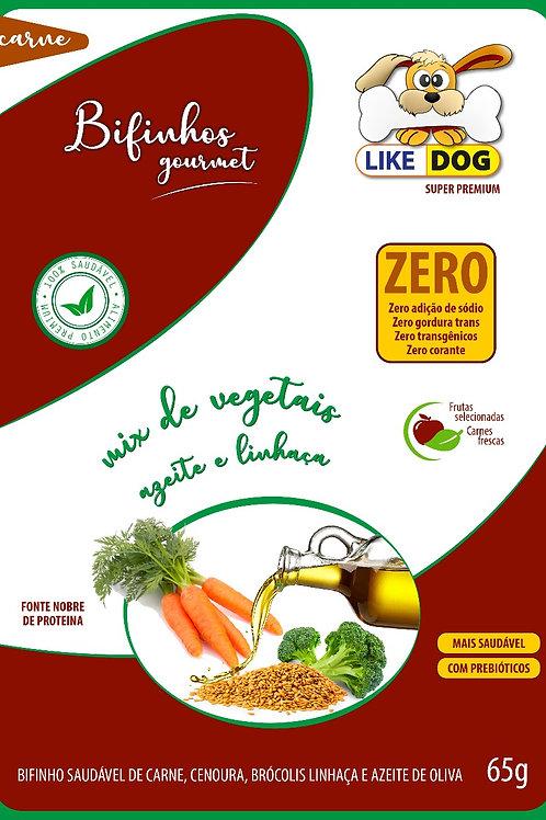 Suplemento em Bifinho Like Dog mix de vegetais azeite e linhaça - 65 g