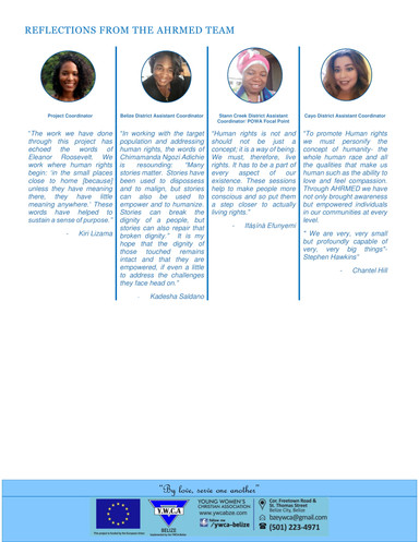 Year 1- YWCA-AHRMED Project Newsletter