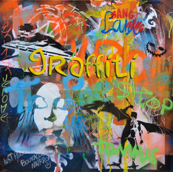 60X60cm canvas graffiti