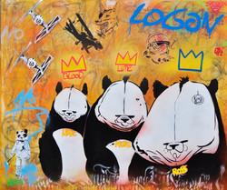 100x120cm canvas graffiti