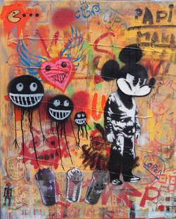 50x60cm canvas graffiti