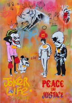 100x70cm canvas graffiti