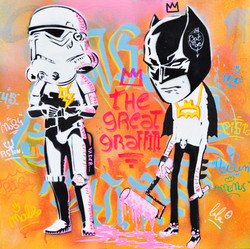 50x50cm canvas graffiti