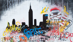 200x100cm canvas graffiti