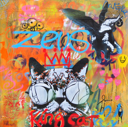 100x100cm canvas graffiti