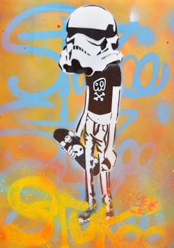 35x42cm paper graffiti