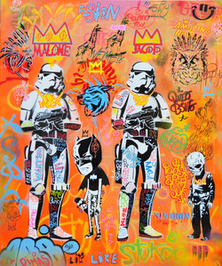 120x100cm canvas graffiti