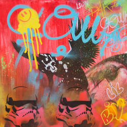 40x40cm canvas graffiti