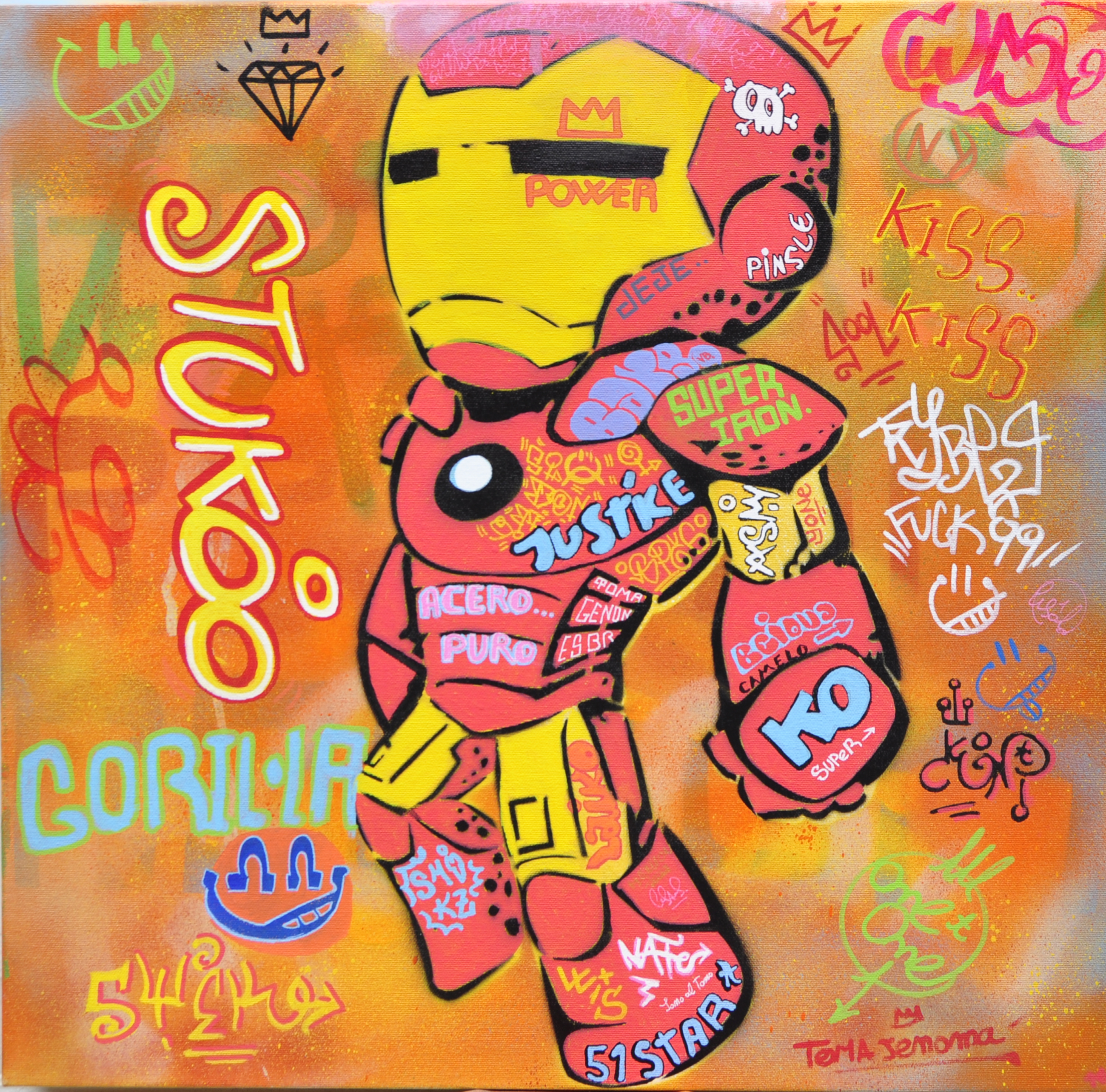 50x50cm canvas graffiti