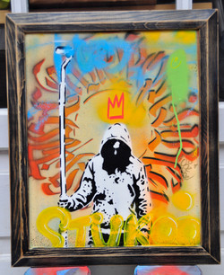 50x70cm wood graffiti