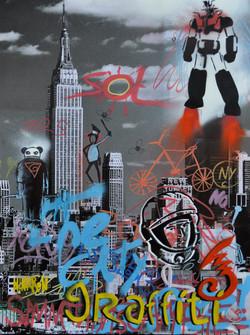 50x70cm canvas graffiti