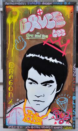 36x65cm wood graffiti