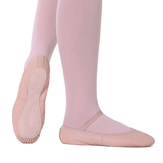 Full Sole Leather Ballet Shoe without drawstring - So Danca - SD55