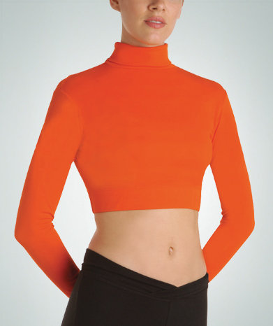 Long Sleeve Midriff Turtleneck Pullover - Child - Bodywrappers