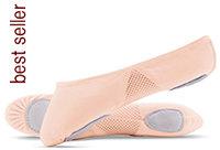 AIRABESQUE (tm) Canvas Split Sole Ballet Shoes - Leos (ref. 075) - LS2304L