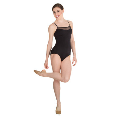 Mesh Inserts Camisole Leotard - Body Wrappers - Adult