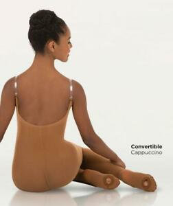 Convertible Foot Body Tight w/Clear Straps - Bodywrappers