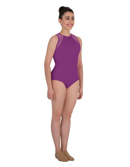 Power Mesh Slit Back Leotard - Body Wrappers - Adult