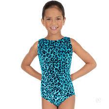 Eurotard Girls Sweet Safari Soft Velvet Leopard Print Gymnastics Leotard