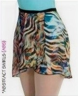 Short Tapered Print Classic Wrap Skirt - Body Wrappers - Adult - FINAL SALE!