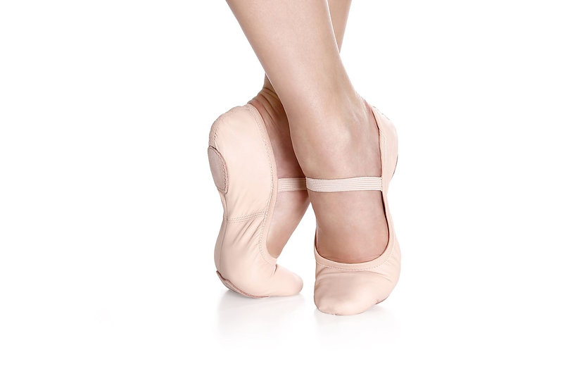 Split Sole Leather Ballet Shoe without drawstring - So Danca - SD60