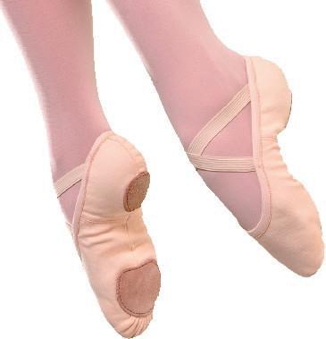 Split Sole Canvas Ballet Shoe without drawstring - So Danca - SD16