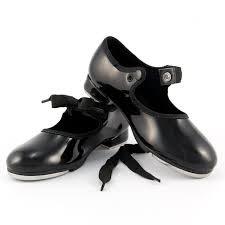 Snap Buckle Tap Shoe with Ties - So Danca TA36