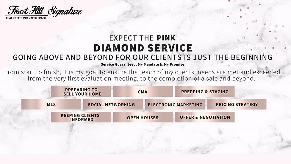 Seller's Pink Diamond Service Maximum Results For Toronto, GTA Homes