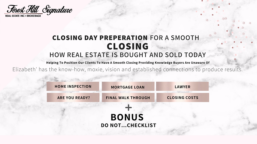 Closing day preperation for first-time home buyers in Toronto, GTA