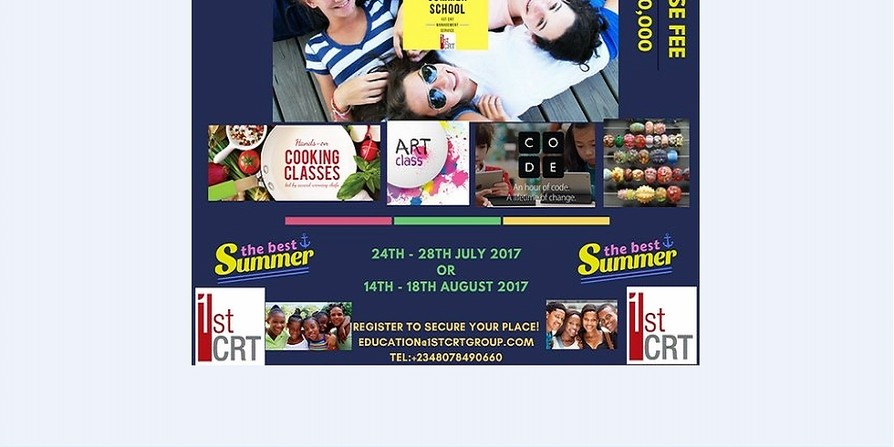 THE ULTIMATE SUMMER SCHOOL JULY 2017