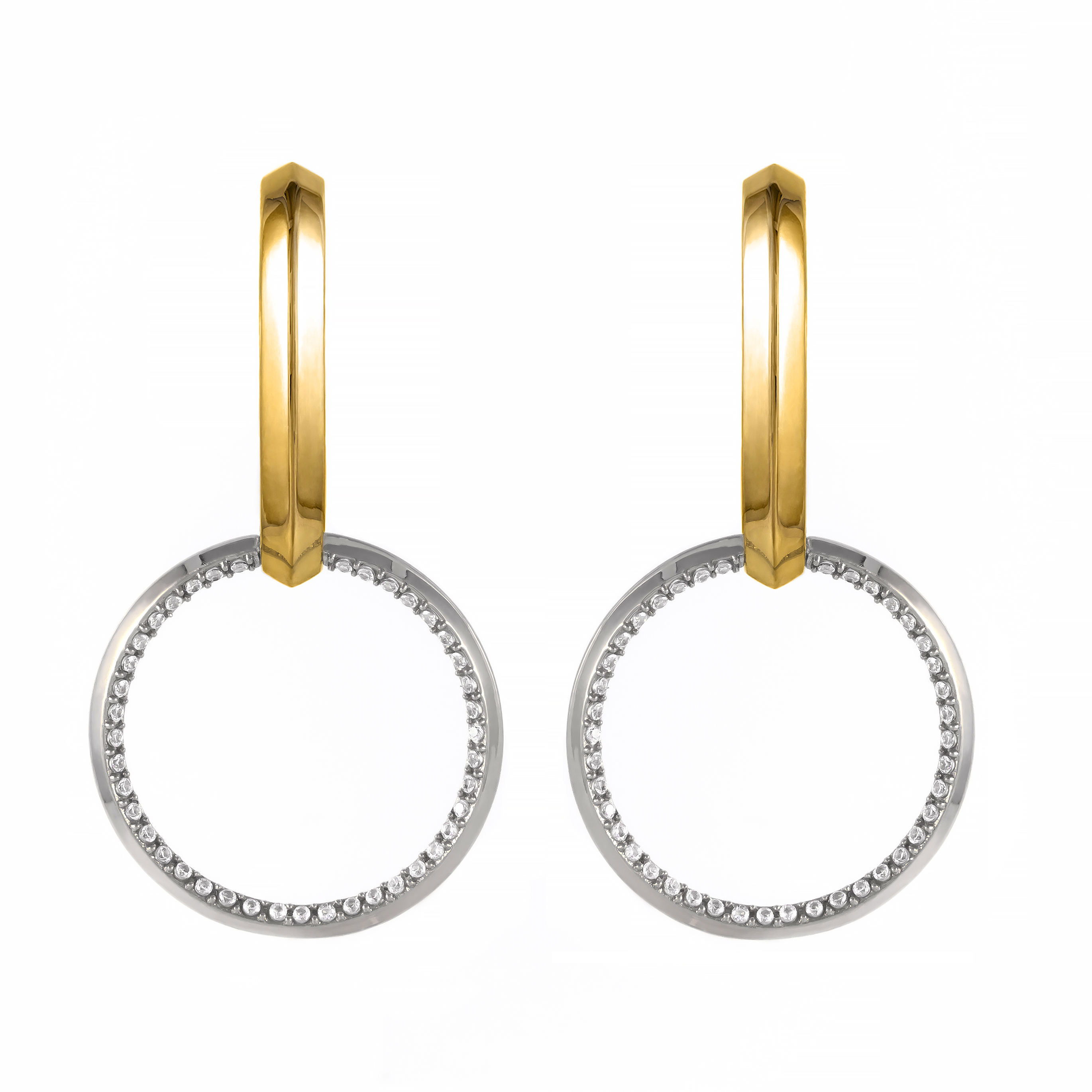 Lyra Two-Tone Earrings