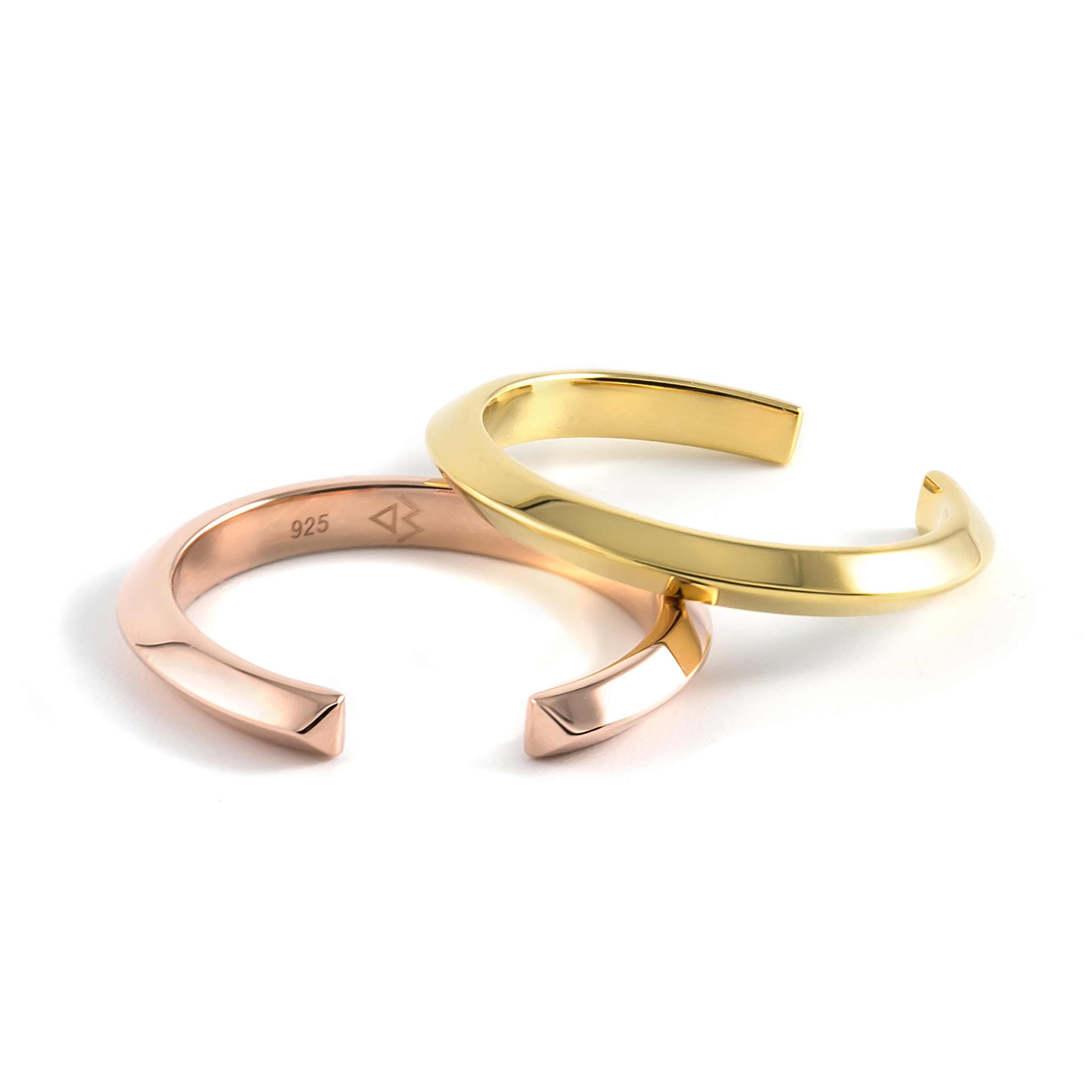 Crescent Slim Rings