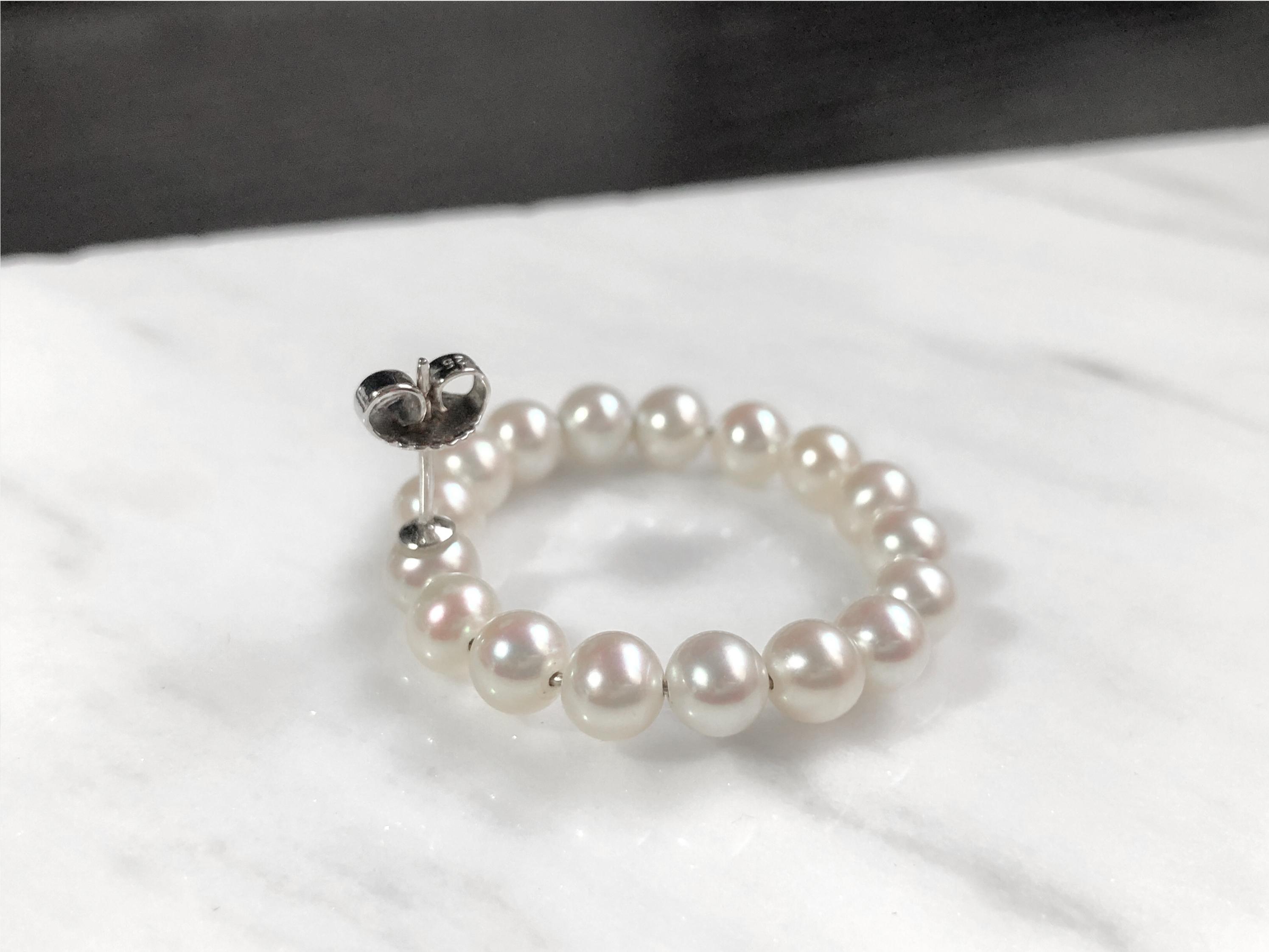 Amber Pearl Earrings