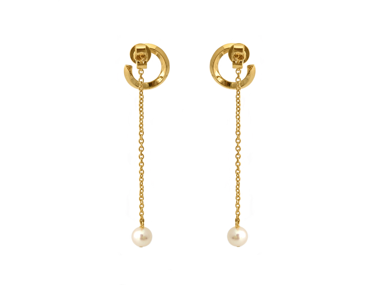 Rilo swirl pearl drop earrings-1